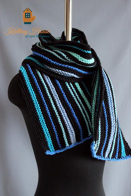шарф, вязаный шарф, шарф мужской, шарф спицами, шарф купить