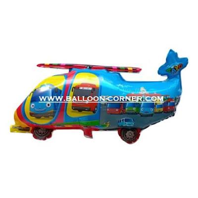 Balon Foil Karakter Helicopter Tayo (Merah)