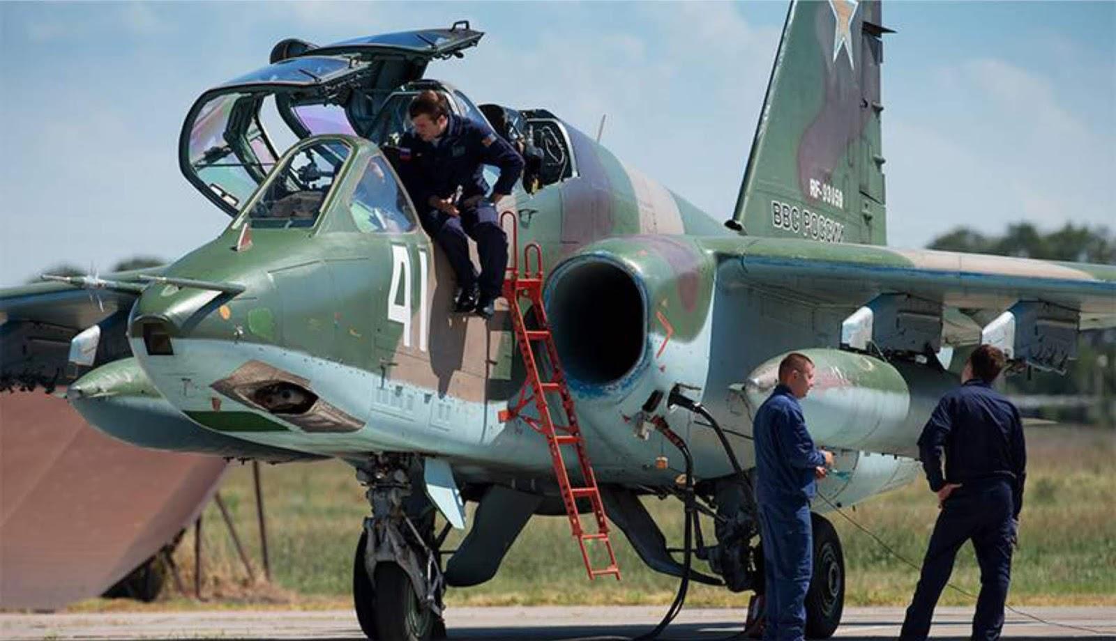 Pesawat tempur Su-25 Rusia kembali ke Suriah