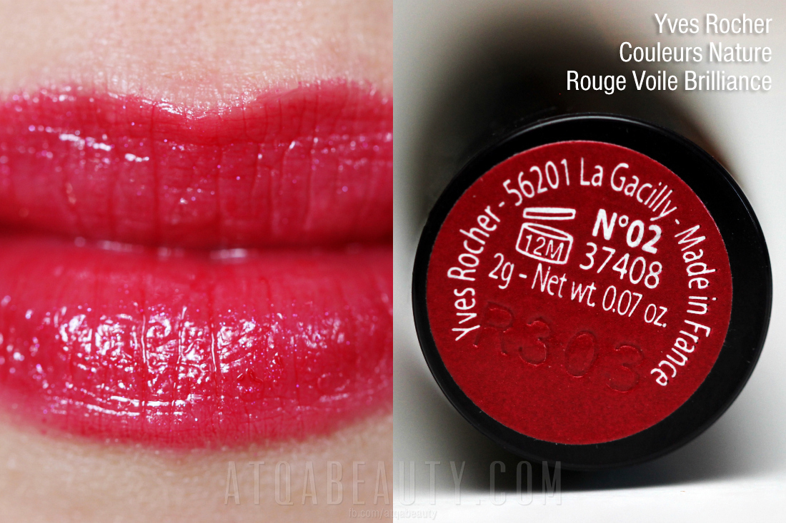 Yves Rocher • Couleurs Nature •  Rouge Voile Brilliance • 02