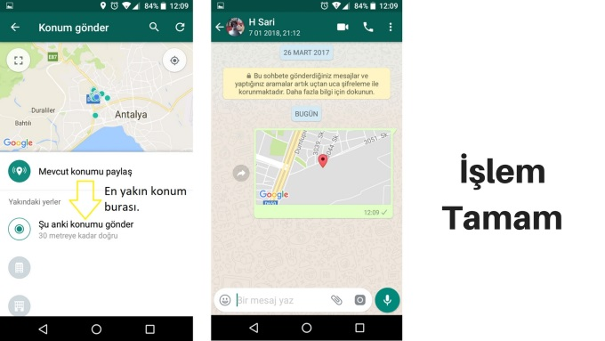 Whatsapp Konum Nasıl Atılır 2