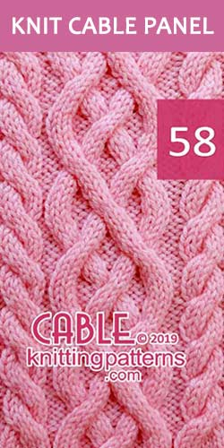 Knitted Cable Panel Pattern 58, its FREE. Advanced knitter and up.