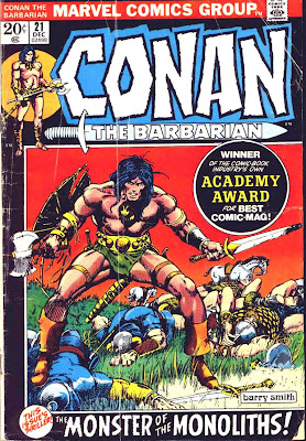 Conan the Barbarian v1 #21 marvel comic book cover art by Barry Windsor Smith