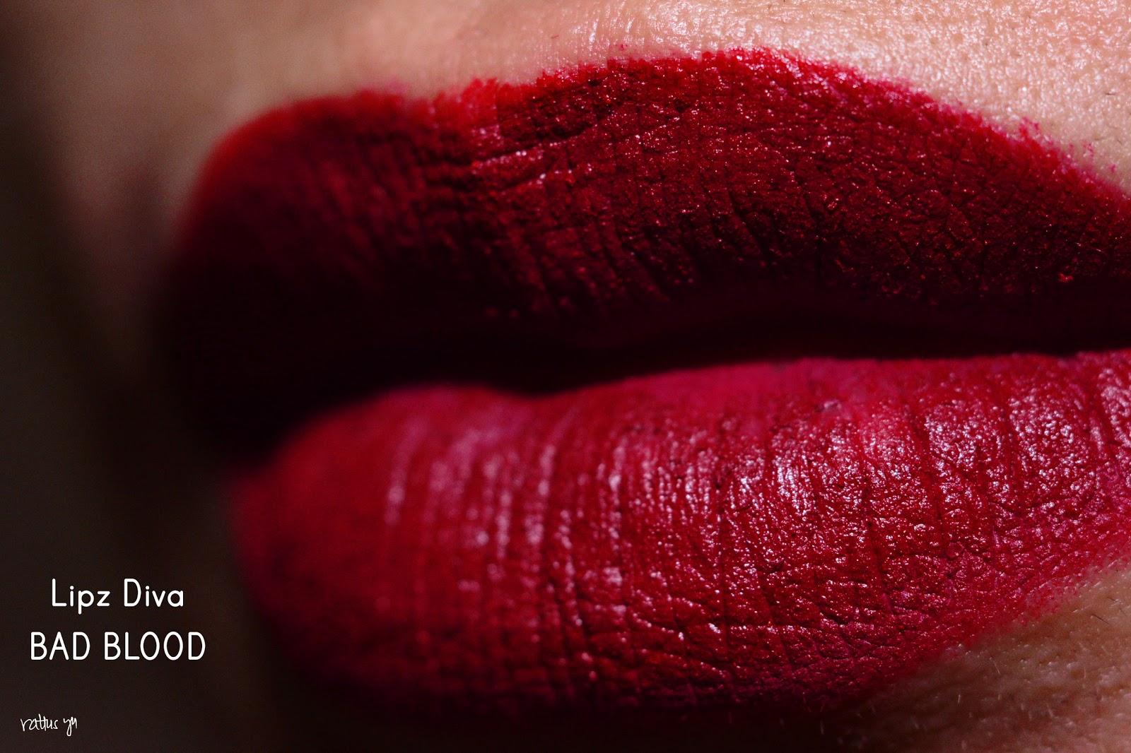 Lipz Diva Matte Lipstick in Bad Blood