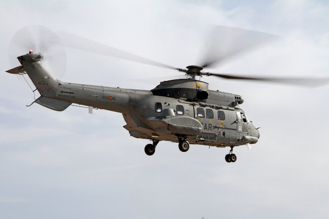 El nuevo helicóptero del 802 Escuadrón SAR ya vuela con el Ejercito del Aire