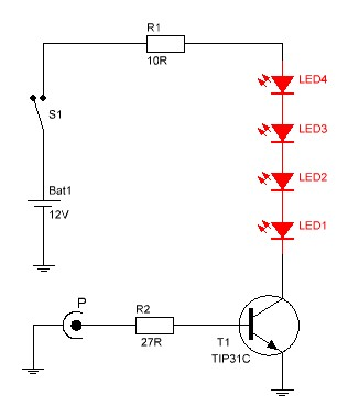 Luces audioritmicas circuito.