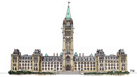 Parliament of Canada by Yukié Matsushita