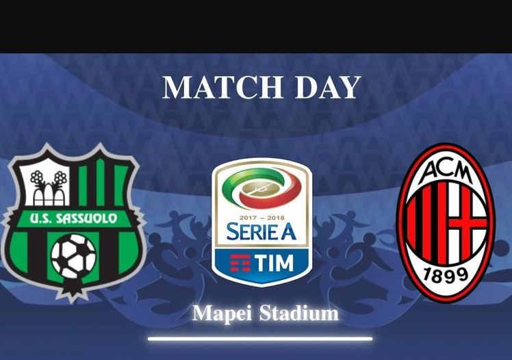 SASSUOLO-MILAN Streaming: info Facebook YouTube, dove vedere Diretta TV con PC Tablet iPhone