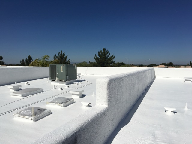 This Will Extend The Roofu0027s Service Life. A Reflective Roof Coating Will  Reduce The Heat Load On The Roofing Assembly.