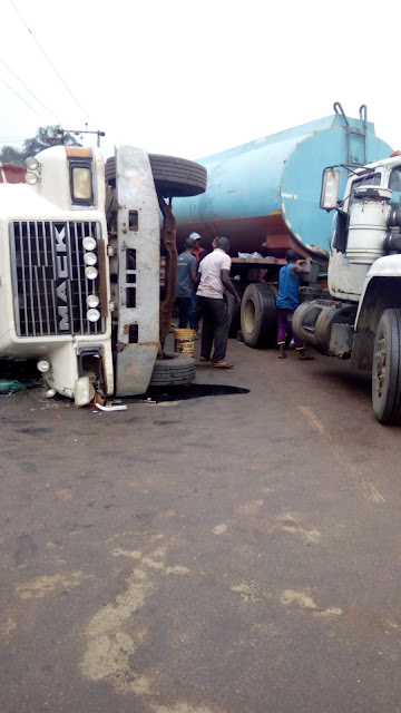 image of the fall tanker at enyiogugu market