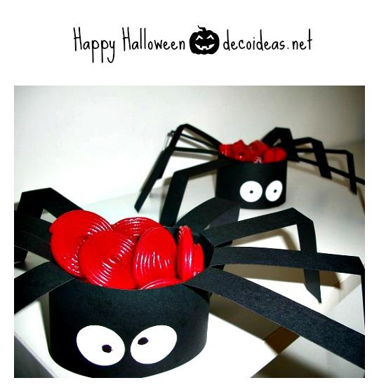 manualidades halloween araña