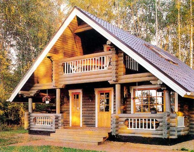 nhà gỗ kiểu mới