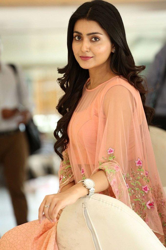 Avantika Mishra In Pink Dress At Vaisakham Telugu Movie Press Meet