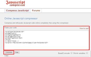 Cara memperkecil ukuran  javascript