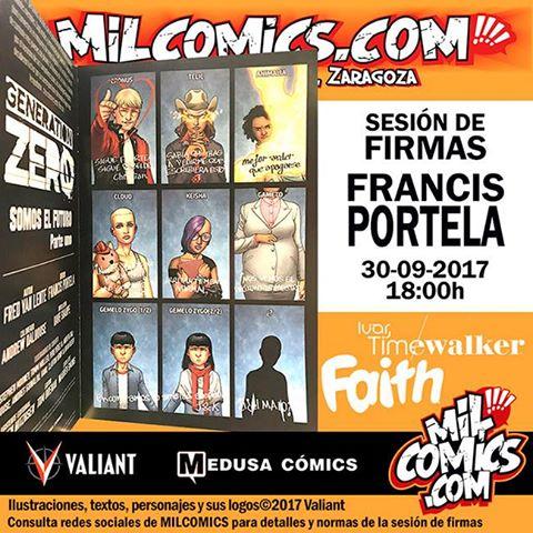 Francis Portela, artista estrella del Universo Valiant, firma en MilCómics.com