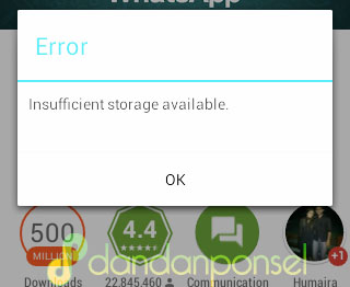 "Cara Mengatasi Error ""Insufficient Storage Available"""