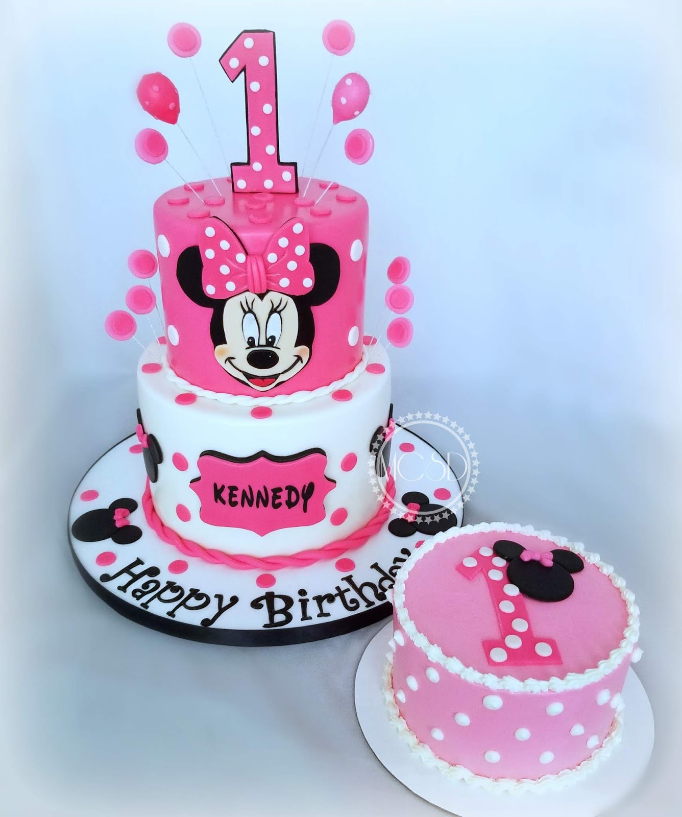 Mycakesweetdreams Minnie Mouse 1st Birthday Cake