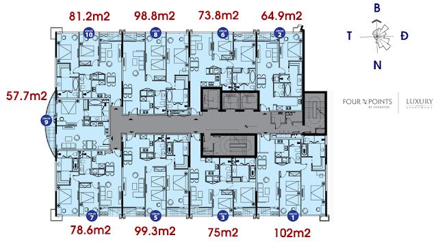 Mặt bằng chung cư Luxury Apartment