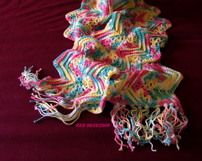 Rippling Spring Colors Cotton Scarf - Handmade By RSS Designs In Fiber