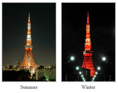 Tokyo Tower Light Summer and Winter