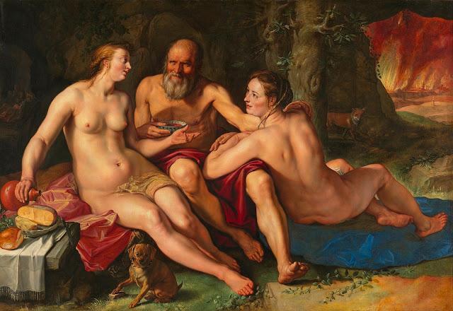 Hendrick Goltzius - Lot e le sue figlie - sex art - dipinti - erotismo