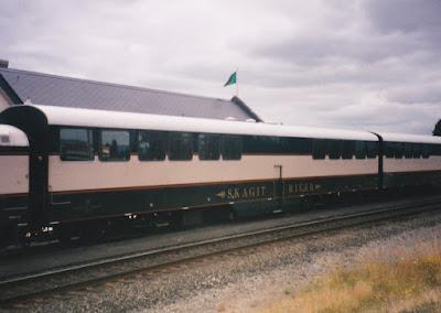 Burlington Northern Bi-Level Car BNA #33 Skagit River in Kelso, Washington