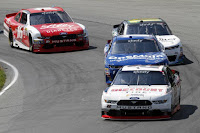 Sam Hornish Jr. led 61 of 75 laps to win his fifth career NASCAR Xfinity Series race Saturday, taking the checkered flag in the Mid-Ohio Challenge at Mid-Ohio Sports Car Course in Lexington, Ohio.