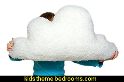 WHITE FLUFFY CLOUD Faux Sheepskin Fleece Pillow Cushion