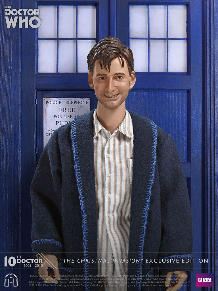 Doctor Who The Christmas Invasion.New David Tennant Doctor Who The Christmas Invasion Figure