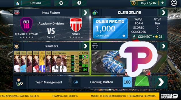 تحميل لعبة دريم ليج سكور 18 مود 19 || DLS 18 MOD DLS 19 v5.04  جميع النجوم في فريق واحد 100%
