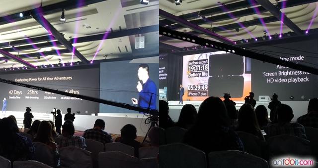 Presentasi keunggulan Zenfone Zoom S oleh Galip Fu selaku Country Marketing Manager Asus Indonesia