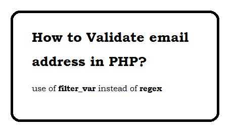 Validating email address php validator