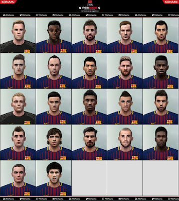 PES 6 Facepack FC Barcelona 2018