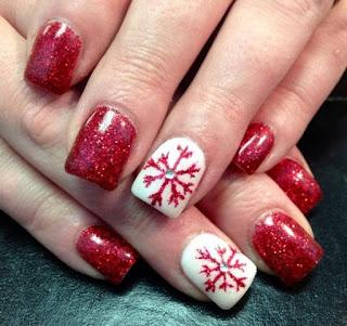 decorar uñas para navidad