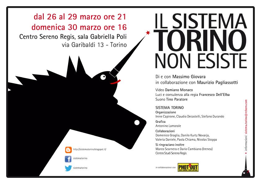 Sistema Torino: DA MERCOLEDI' 26 A DOMENICA 30 MARZO LO