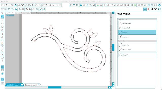 Silhouette tutorial, multiple edit points