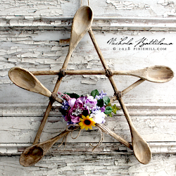 Pixie Hill: Rustic Spoon Star a Kitchen Witch Pentagram