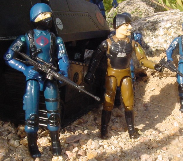 1983 Cobra Trooper, Major Bludd, Hiss Tank