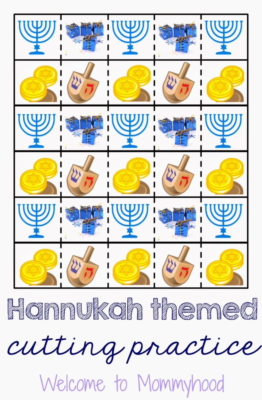 Hanukkah Cutting Printables