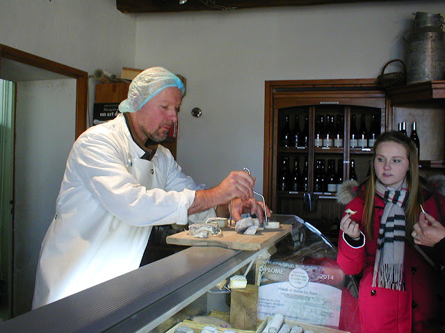 Goats cheese tasting.  Indre et Loire, France. Photographed by Susan Walter. Tour the Loire Valley with a classic car and a private guide.