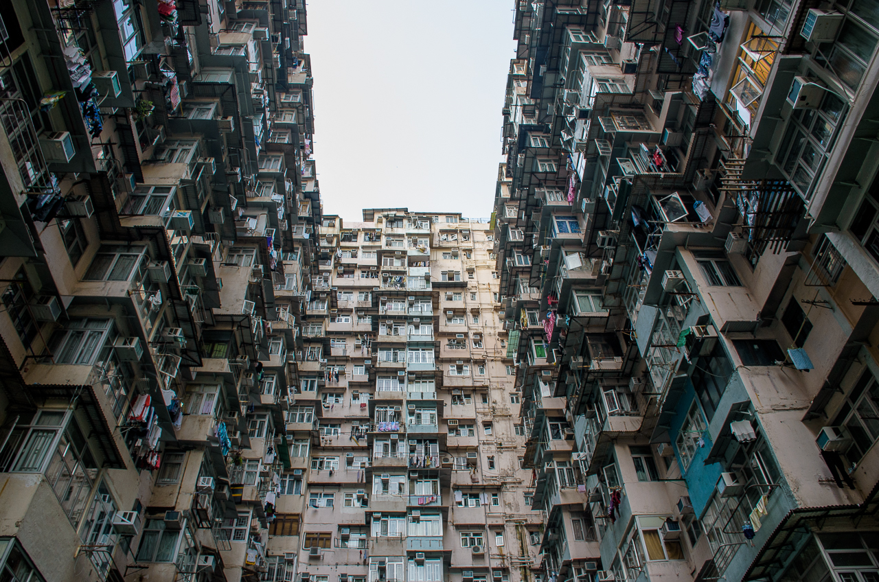 old high rise buildings in quarry bay hong kong