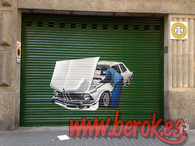 graffiti persiana taller coches