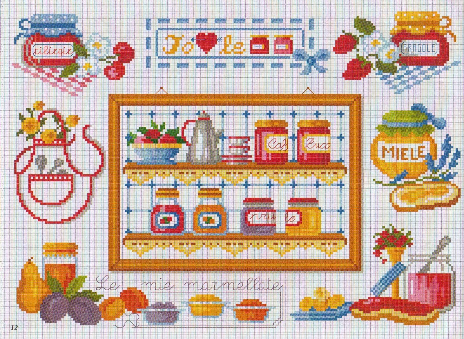 ٠ ٠ Filo ꮛ ℳagia ٠ ٠ Punto Croce In Cucina