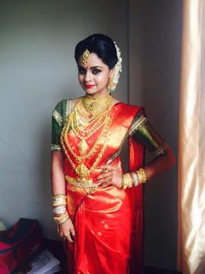 Shilpa Bala wedding Kanjeevaram saree
