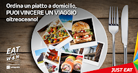 Logo Concorso Just Eat '' Eat and win'': vinci viaggi per Messico, Giappone e New York