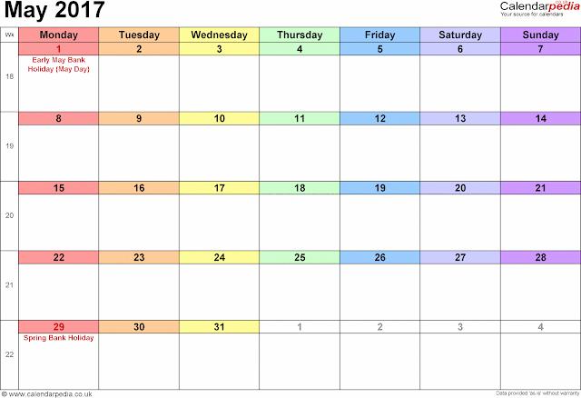 Free May 2017 Printable Calendar, May 2017 Blank Calendar, May 2017 Calendar Printable, May 2017 Printable Calendar with Holidays, May Calendar Printable 2017