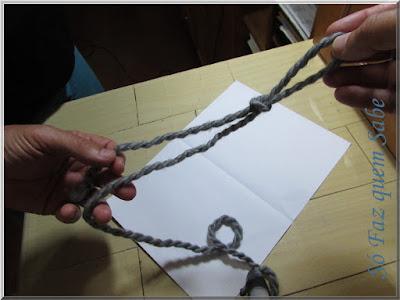 Foto mostrando um nó corrediço ao final de sua execução