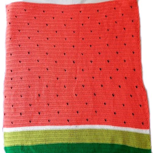 Watermelon Crochet Blanket - Free Pattern