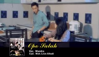 Lirik Lagu Opo Salah - Wandra