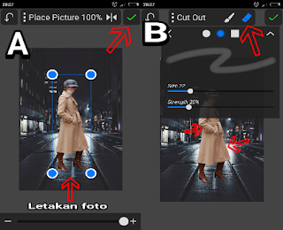 Edit foto kekinian manipulasi background android